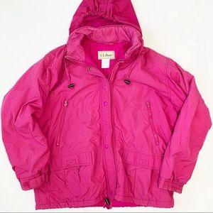 LL Bean 90s Vintage Ski Snow Hooded Zip Coat